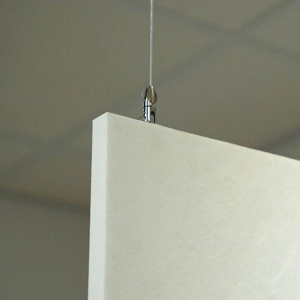 Drahtseilaufhängung für Schallschutzplatten 2,5 cm Stärke