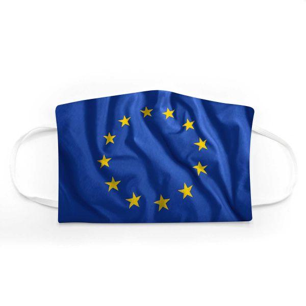 Community Mund - Maske Europafahne Adult + Kids