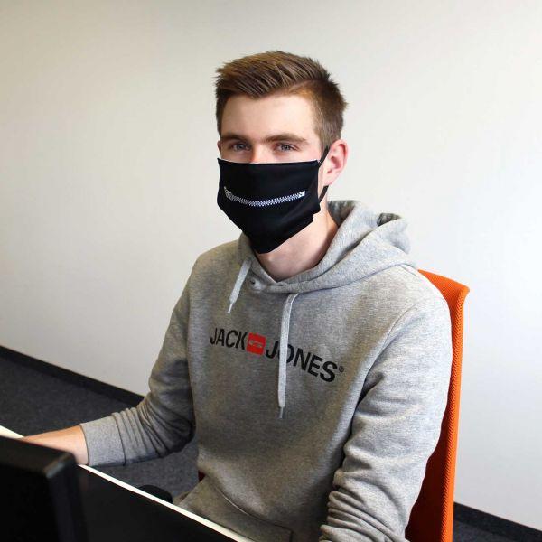 Community Mund - Maske Reißverschluss Adult + Kids