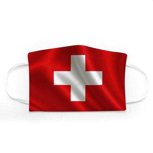 Community Mund - Maske Fahne Schweiz Adult + Kids