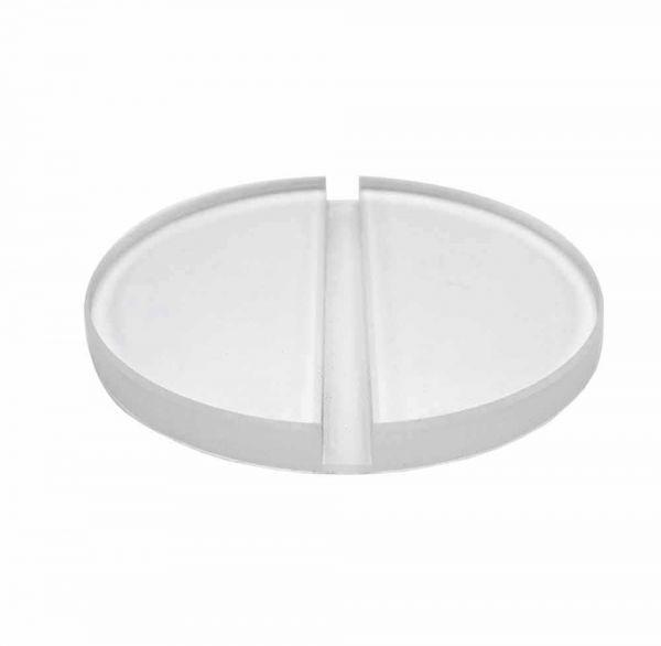 Ständer/Verbinder Acryl rund für Plattenstärke 0,8cm