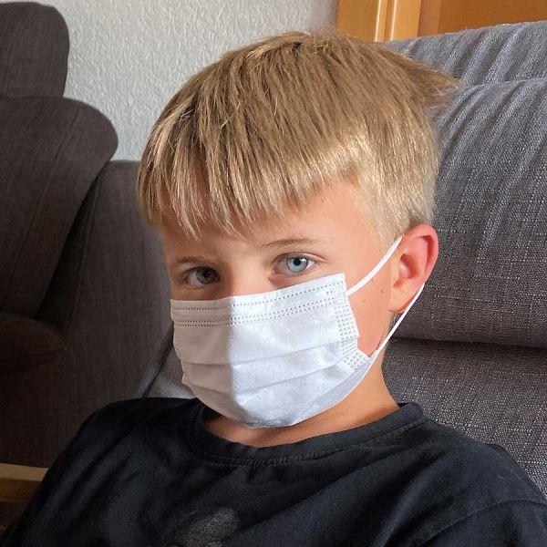 Maske für Kinder   EN14683   3-lagig weiß
