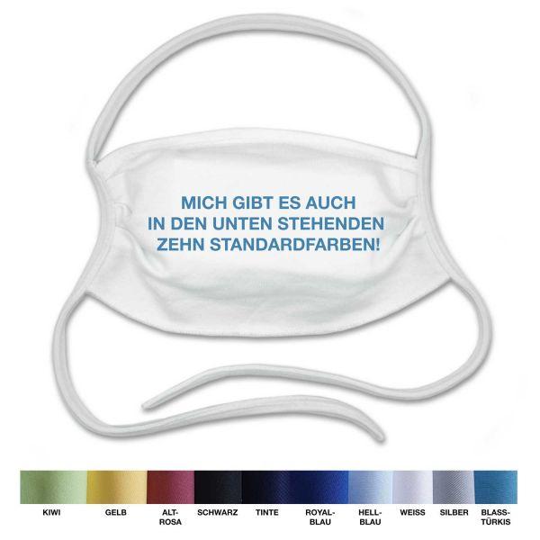 Mund-Nasen-Bedeckung Erwachsene & Kinder | neutral | Farbwahl