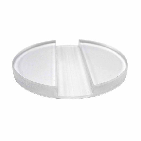 Ständer/Verbinder Acryl rund für Plattenstärke 2,5cm