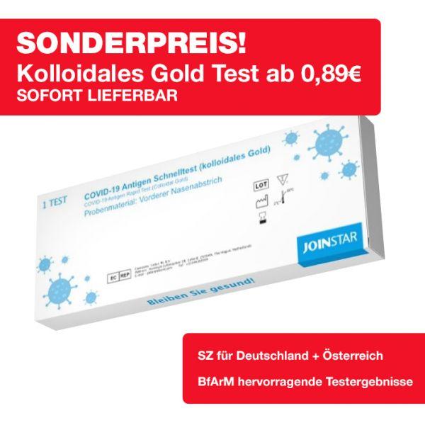 Joinstar Kolloidales Gold Test / Laienabgabe / BfArM Top Ergebnis