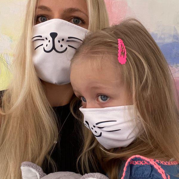 Mundmaske Adult+Kids | Katze | ab 1 Stück