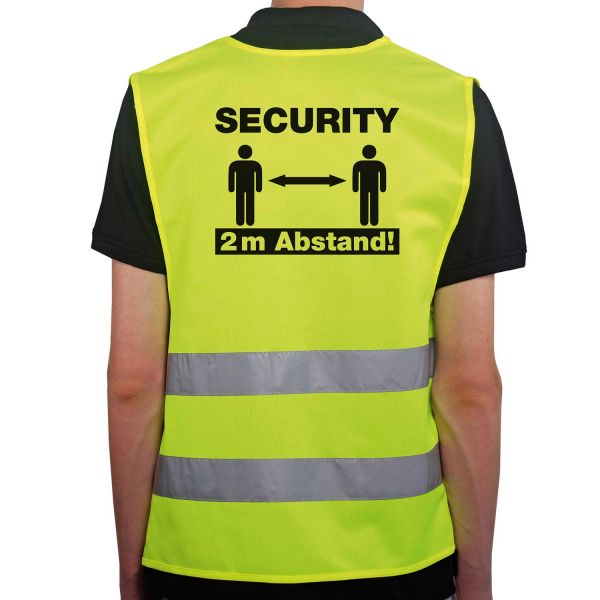 Warnweste Security & Sicherheitsabstand