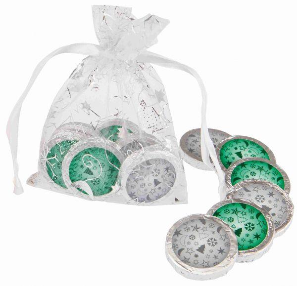 Organzasäckchen Christmas silber | neutral