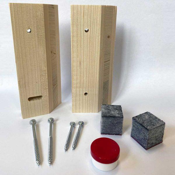 Knackenleistenset für Schallschutzplatten 2,5 cm Stärke