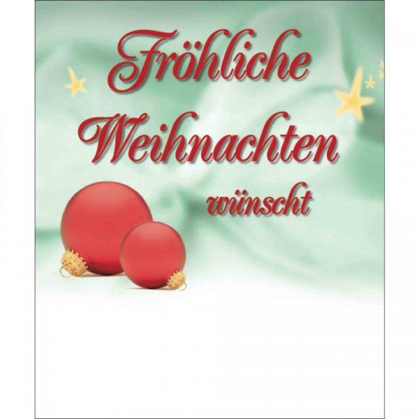 Organzasäckchen Christmas individuell silber | mit Grußkarte
