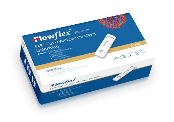 Flowflex 5er Pack Laientest / sofort lieferbar   BfArM Sonderzulassung
