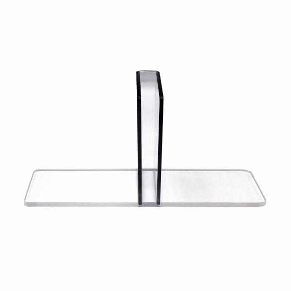 Seitenständer Acryl für Plattenstärke 2,5cm